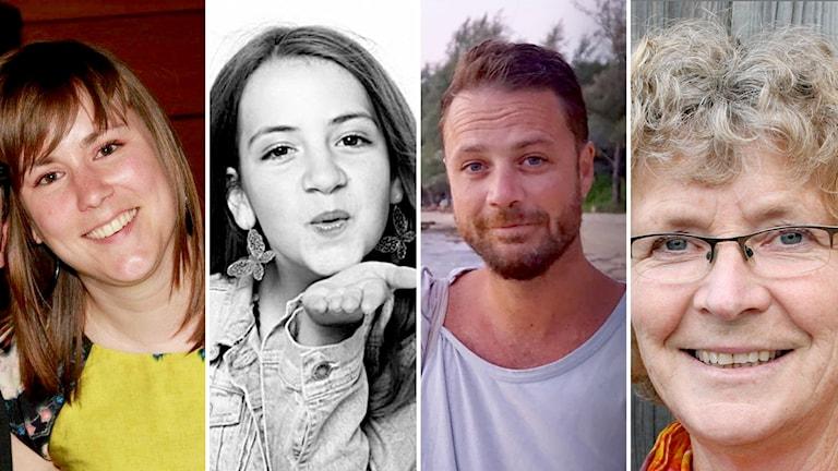 Maïlys Dereymaeker, Ebba Åkerlund, Chris Bevington, Lena Wahlberg.
