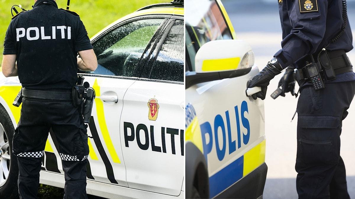 En nors och en svensk polis.