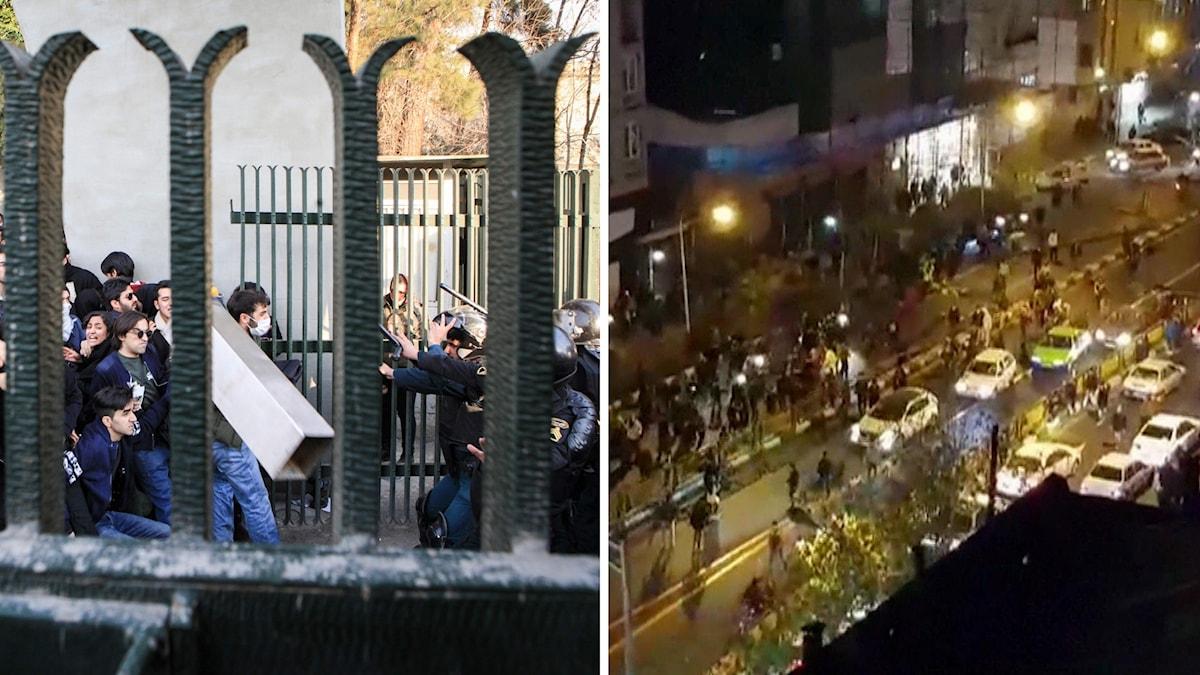 Protester i Iran.