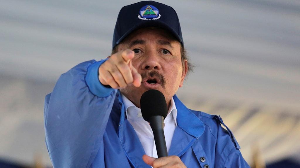 Nicaraguas president Daniel Ortega