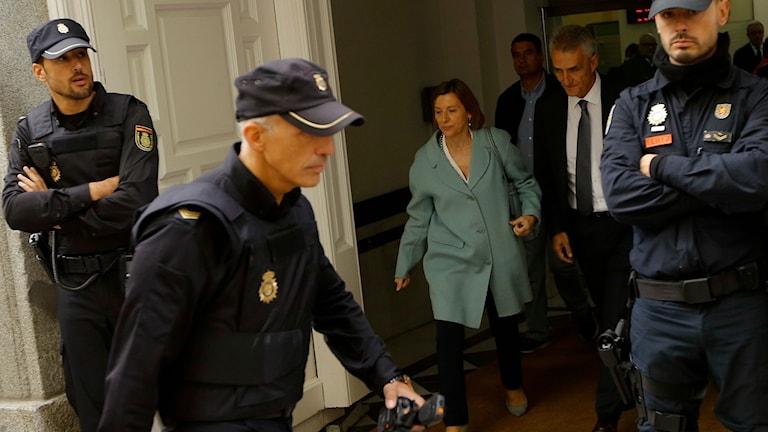 Denn förra talmannen i det katalanska parlamentet lämnar högsta domstolen i Madrid.