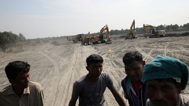 Rohingyer på ön Bhasan Char