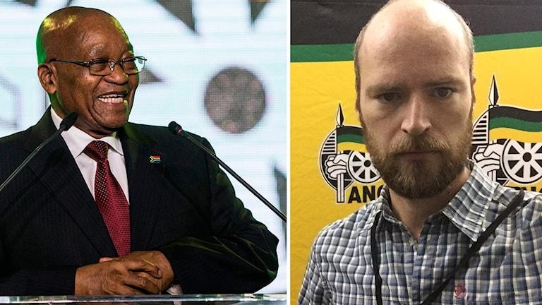 Jacob Zuma och Samuel Larsson
