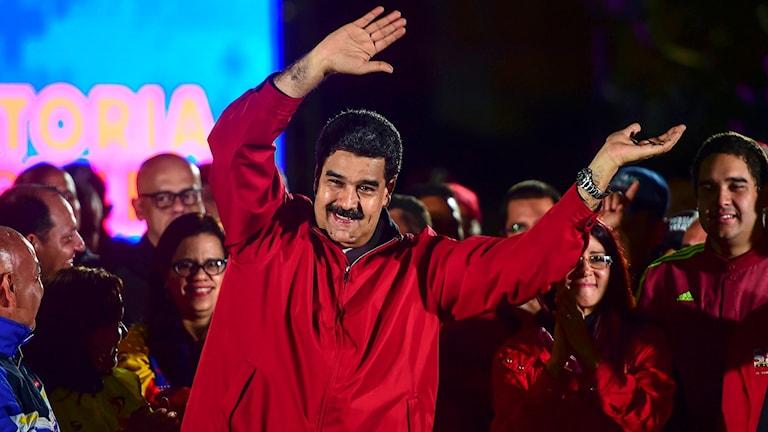 Venezuelas president Nicolas Maduro firar valresultatet