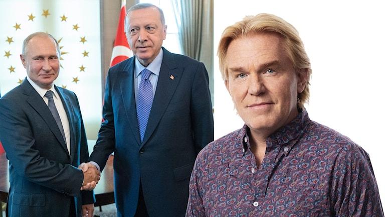 Putin och Erdogan skakar hand.