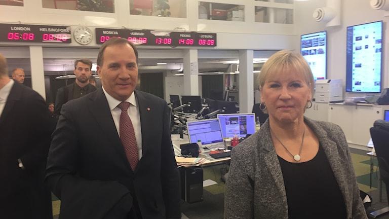 Statsminister Stefan Löfven och utrikesminister Margot Wallström