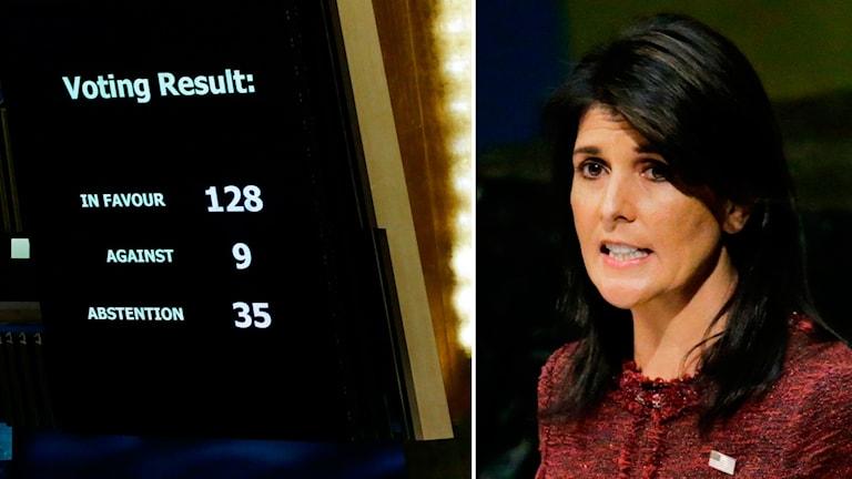 Nikki Haley, USA:s FN-ambassadör.