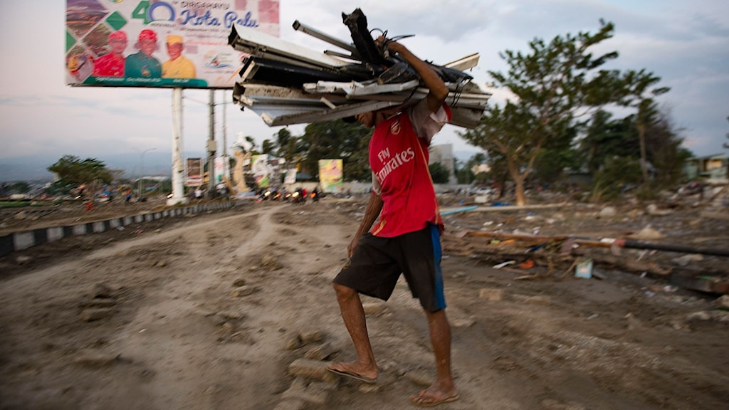 Palu, Indonesien, efter tsunamin.
