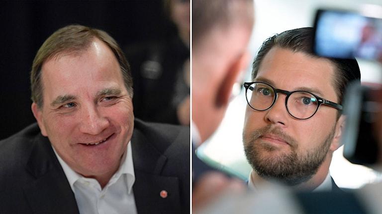 Socialdemokraternas Stefan Löfven och Sverigedemokraternas Jimmie Åkesson
