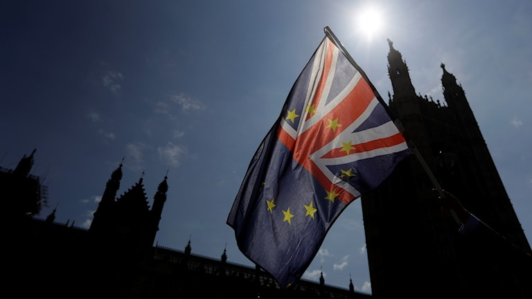 Brittisk och europeisk flagga
