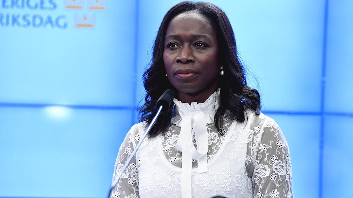 Liberalernas partiledare, Nyamko Sabuni.