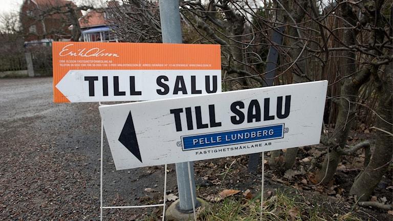 Till salu-skyltar i Stockholm