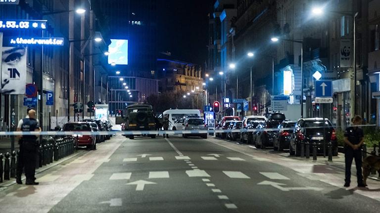 En avspärrad gata.