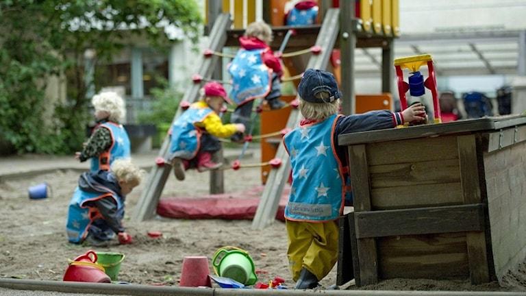 Barn i förskola (arkivbild). Foto: Fredrik Sandberg/TT.