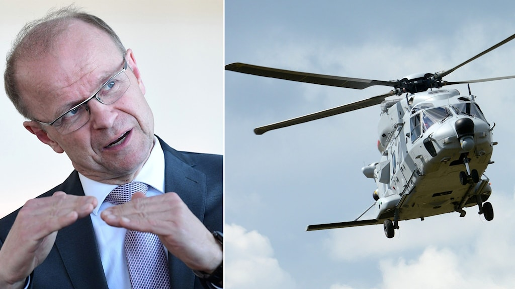 Mikael Oscarsson (KD) och Helikopter 14.