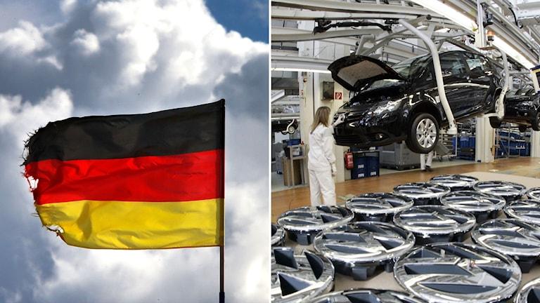 Tysk flagga och bilproduktion