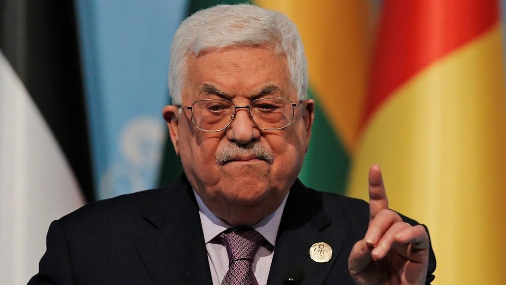 Den palestinske presidenten Mahmoud Abbas.