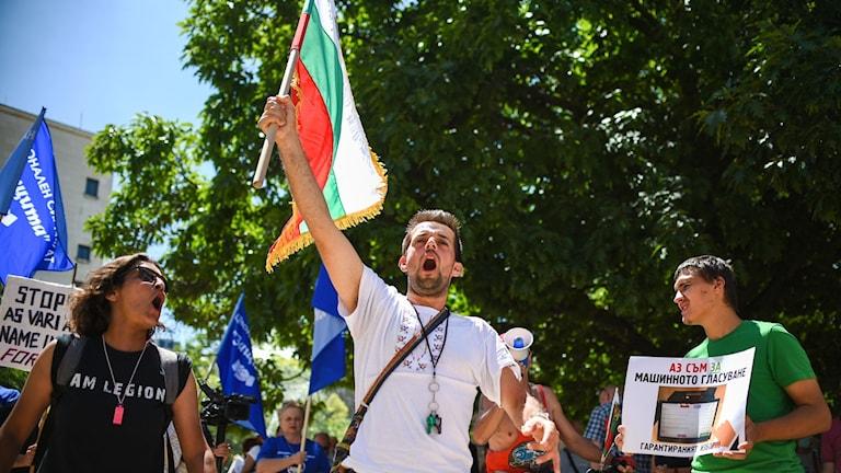§Regeringskritiska protester i Bulgarien