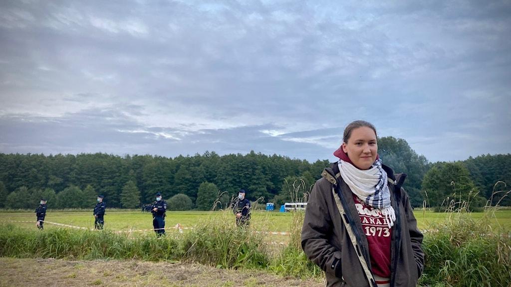 Kalina Czwarnóg från migranthjälporganisationen Fundacji Ocalenie.