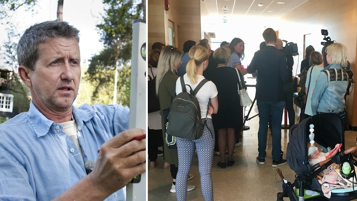 Intresset var stort när rättegången mot Martin Timell inleddes vid Attunda tingsrätt i Sollentuna.