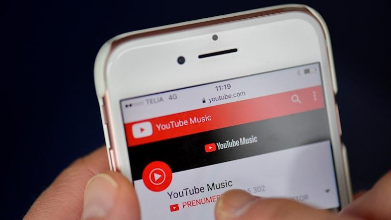 Youtube i mobilen.