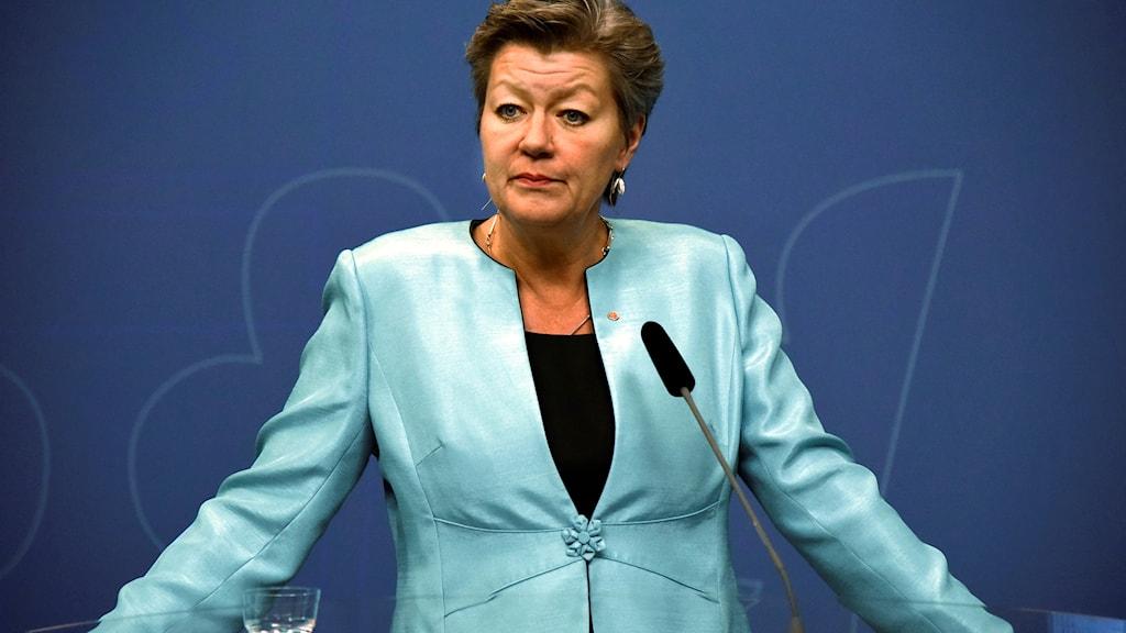 arbetsmarknads- och etableringsminister Ylva Johansson.