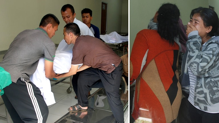 Bilder från sjukhus i Bandung.