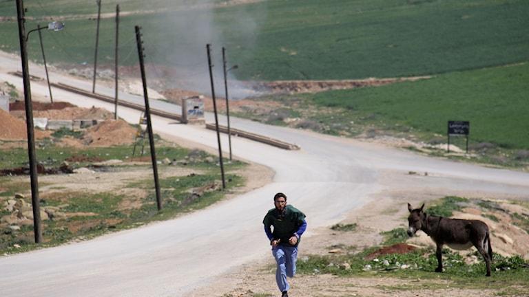 Giftgasattack i Syrien.
