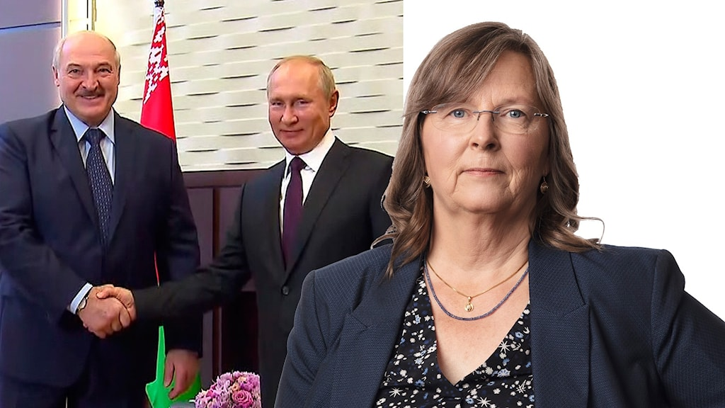 Den belarusiske presidenten Aleksander Lukasjenko och Rysslands Vladimir Putin.