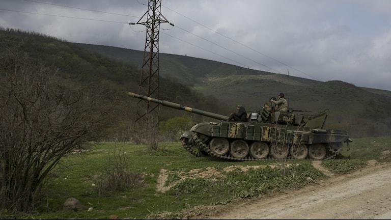 Arkivbild med armenisk tanker i Azerbajdzjan