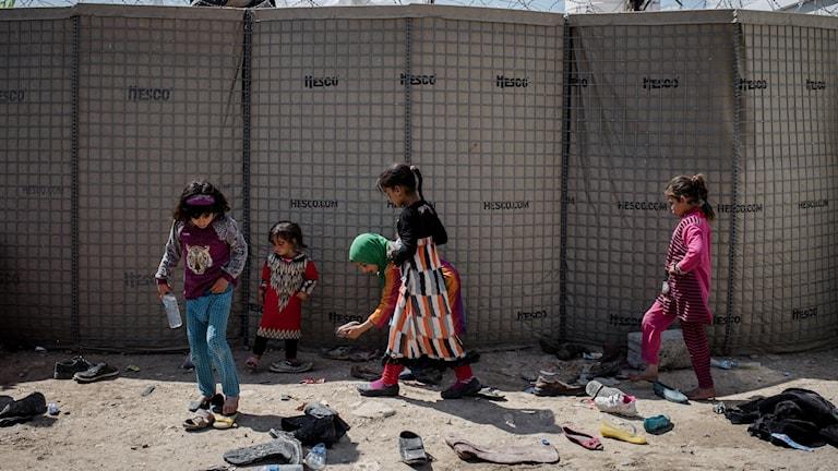 Barn i Mosul, Irak.
