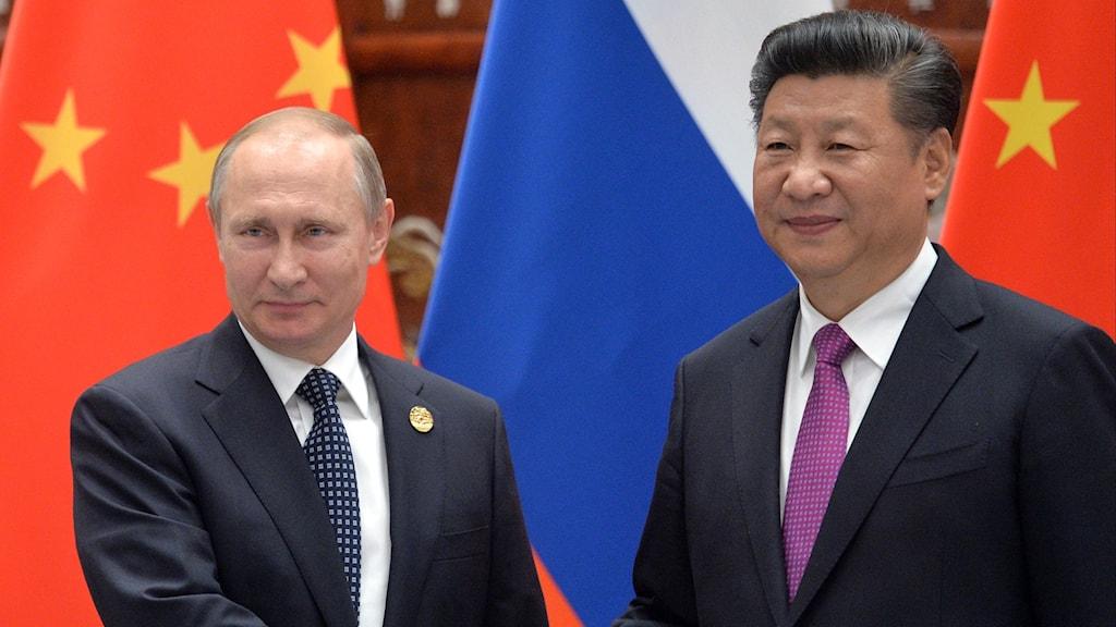 Putin och Xi Jinping