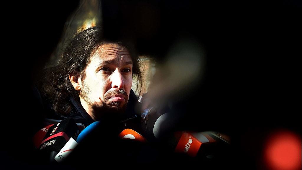 Spanska partiet Podemos ledre Pablo Iglesias.