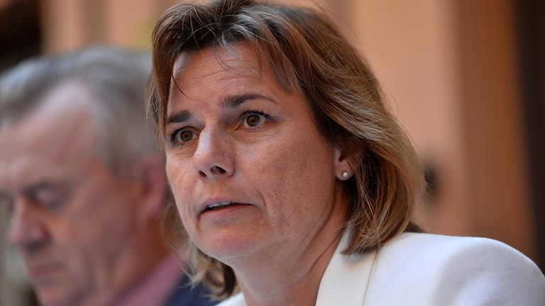 Isabella Lövin, of the Green Party, is minister for aid and development.