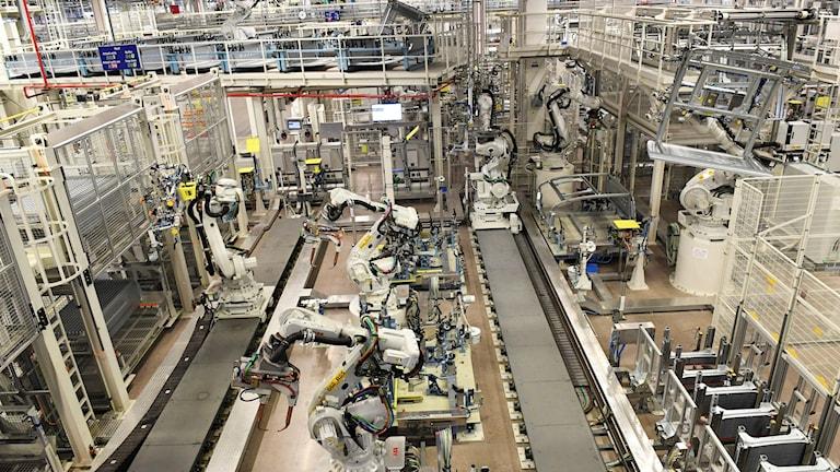 Världens modernaste fabrik för tillverkning av lastbilschassin, Scania i Oskarshamn.