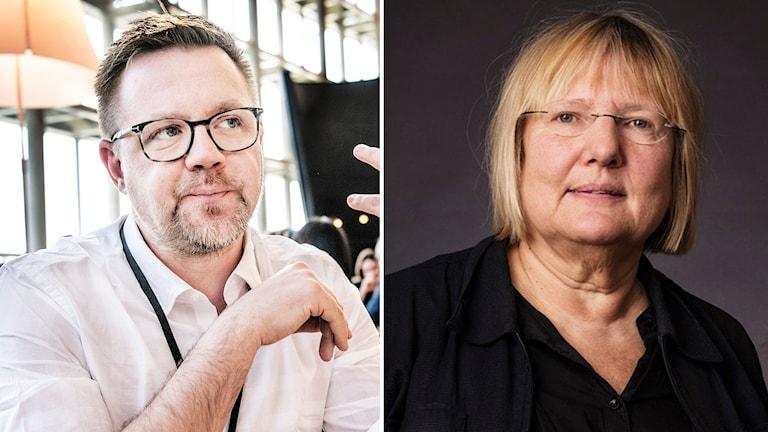Kollage av Fredrick Federley och Susanne Palme
