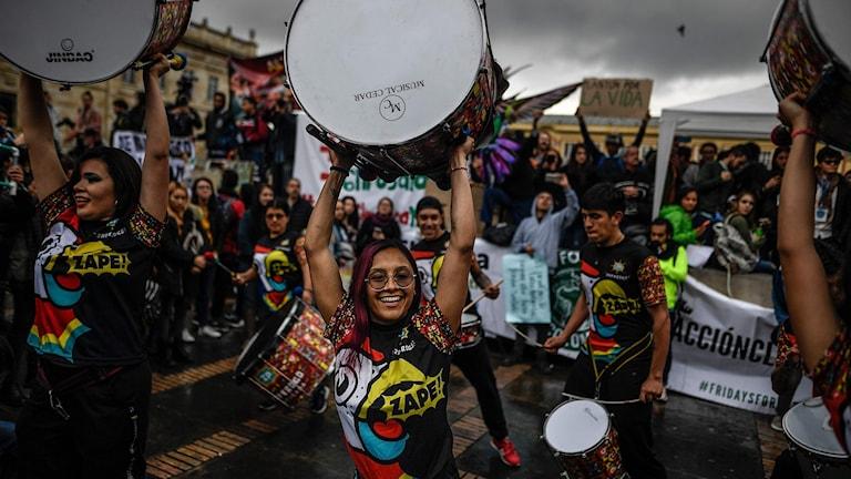 Klimatdemonstration i Bogota, 20 september 2019. Foto: Juan Barreto/TT.