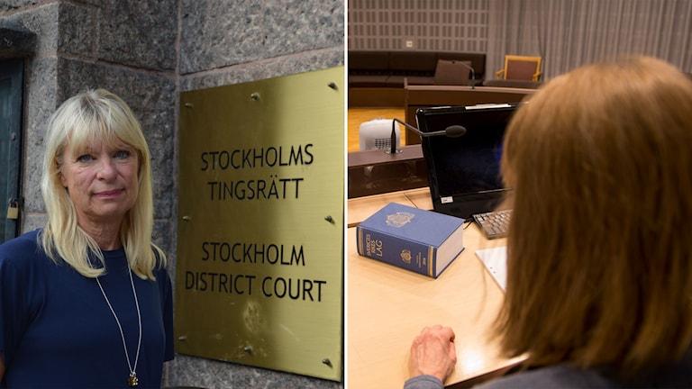 Gudrun Antemar och kvinna i domstol