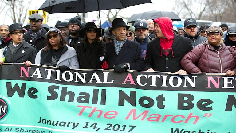 Demonstranter i USA.