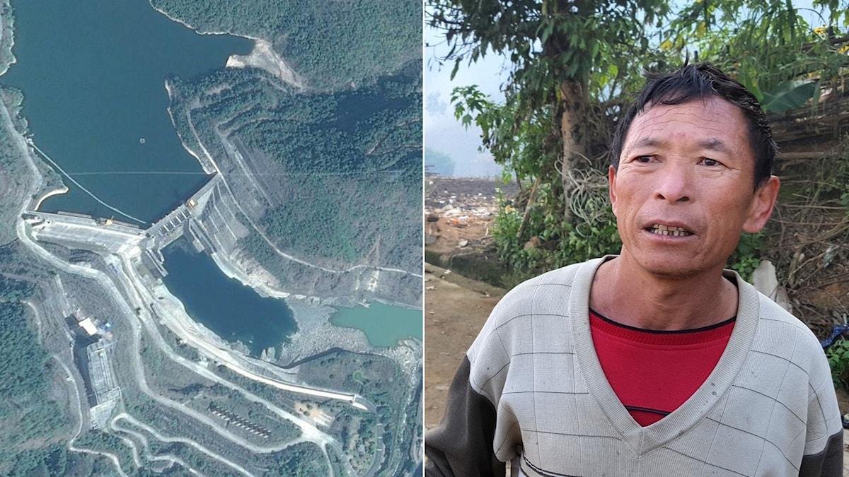 Li Shilong i Dachaoshan vid Mekongfloden berättar att han känner sig lurad av myndigheterna och kraftbolaget som lovat bättre villkor.