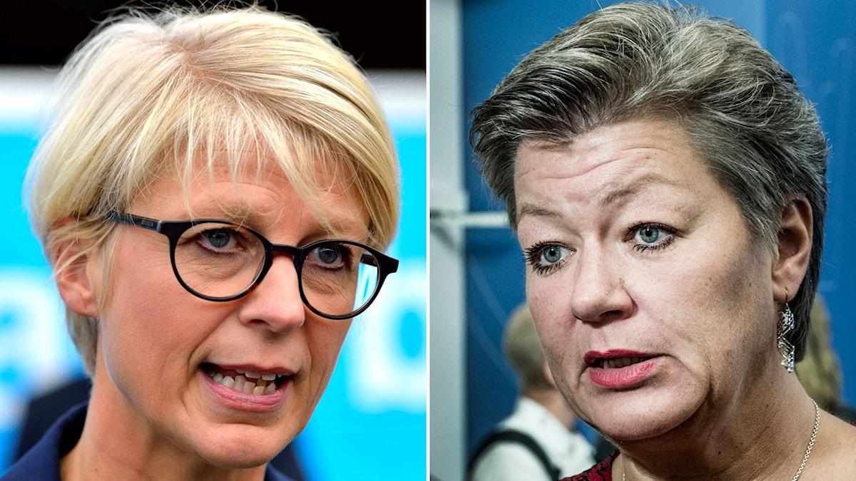 Elisabeth Svantesson (M) och Ylva Johansson (S).