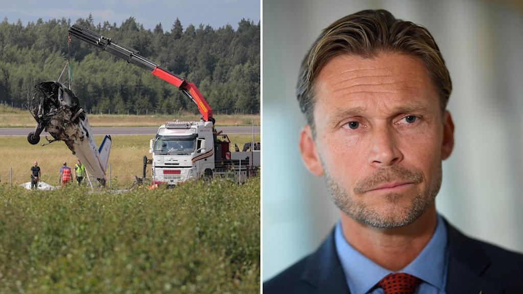 Flygolyckan i Örebro/Peter Swaffer, avdelningschef på Haverikommissionen