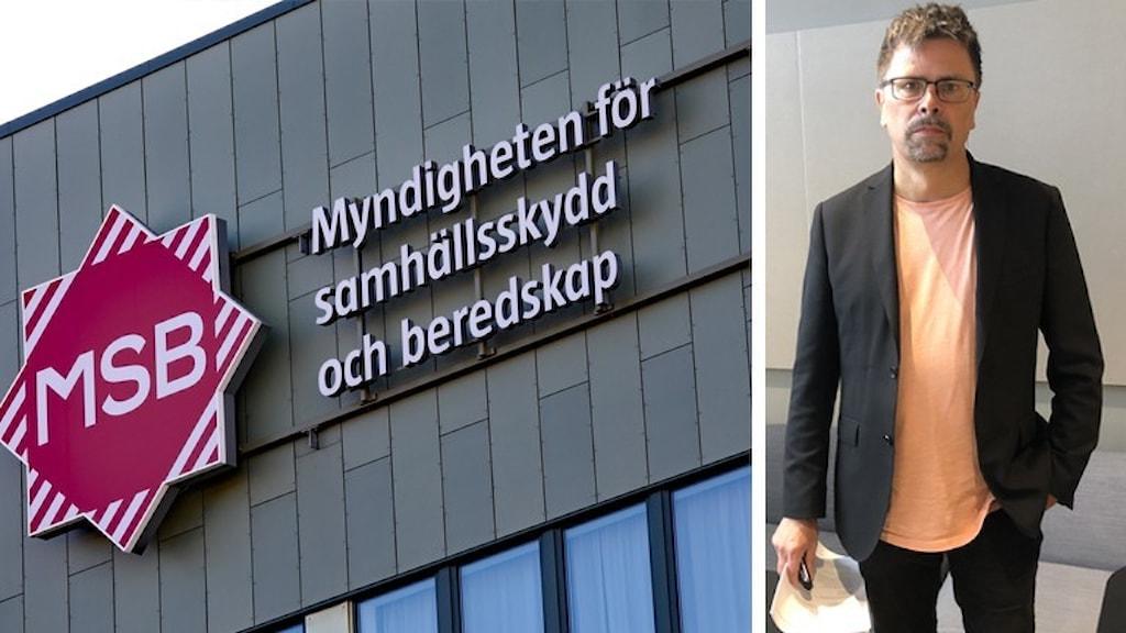 MSBs logotyp och Svante Werger på MSB