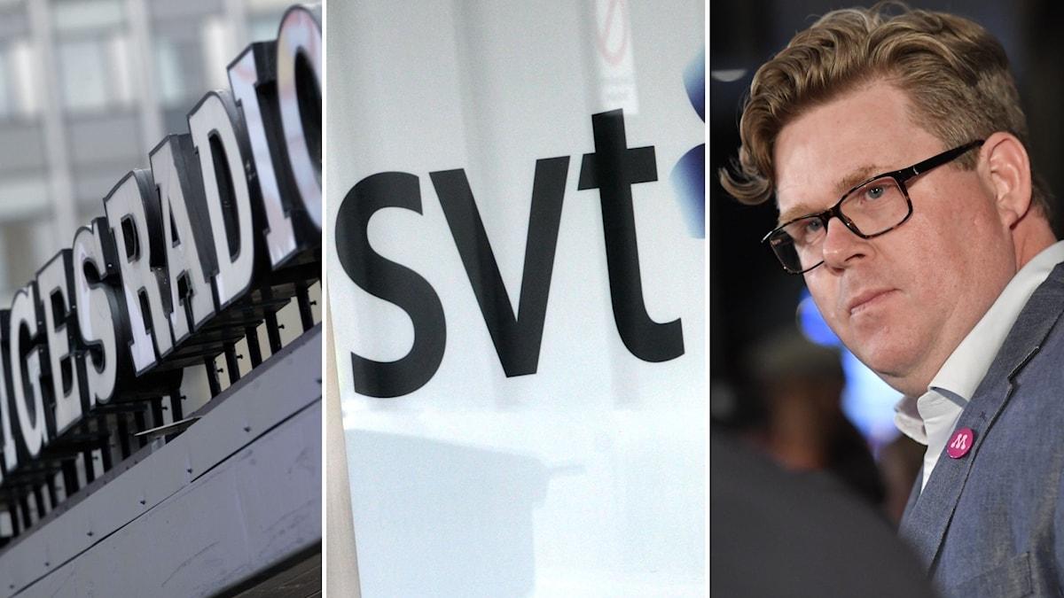 SR, Svt och Gunnar Strömmer (M).