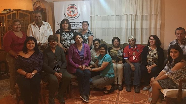 Några av de 800 chilenare som stämmer svenska Boliden för miljöskandalen i staden Arica i norra Chile.