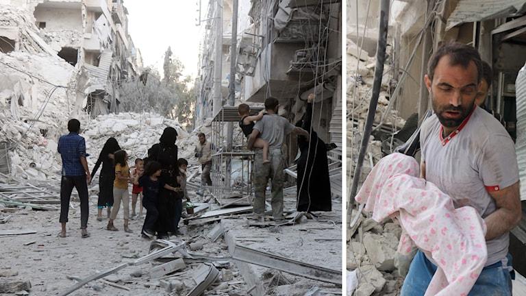 Bombningar av Aleppo