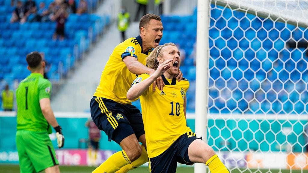 Emil Forsberg gjorde 1-0.