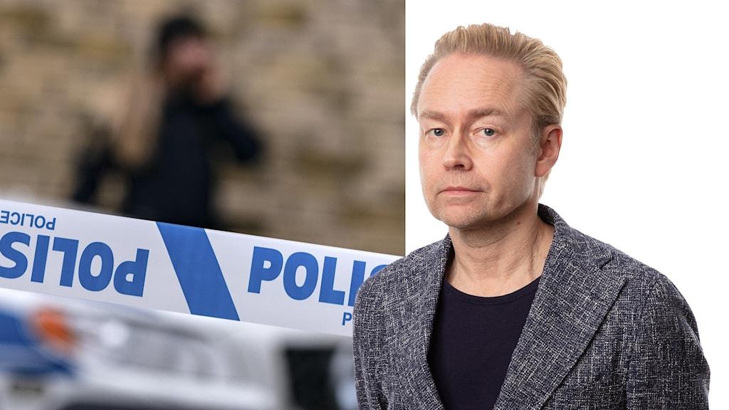 Polisavspärrning och Fredrik Furtenbach.