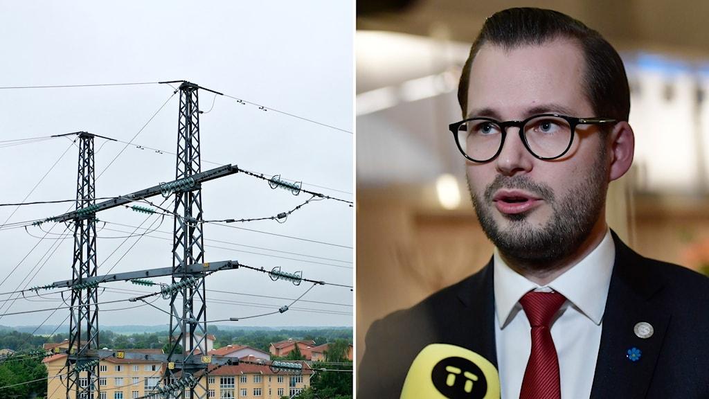 Sverigedemokraternas Mattias Bäckström Johansson.