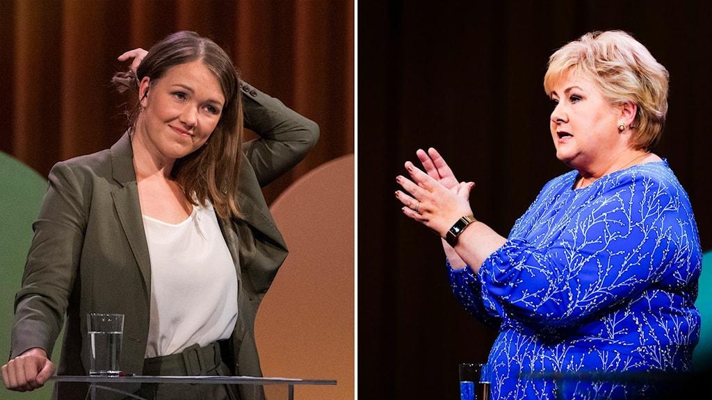 Delad bild: två olika kvinnor